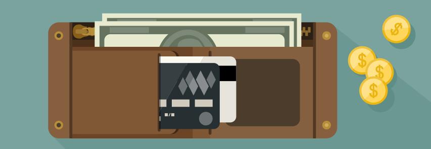 cash wallet, credit cards