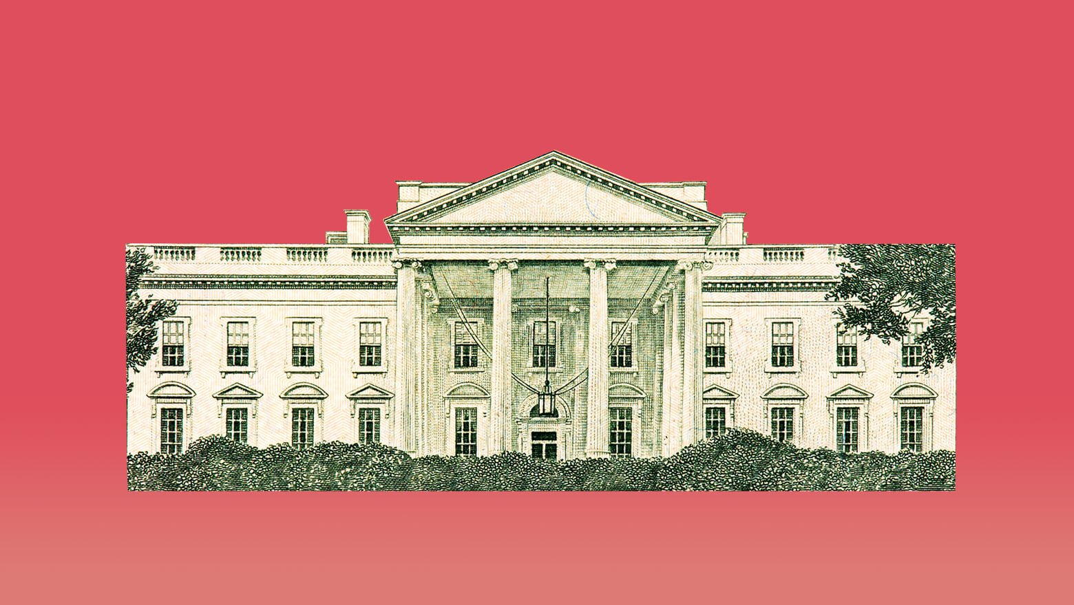 White House on red background