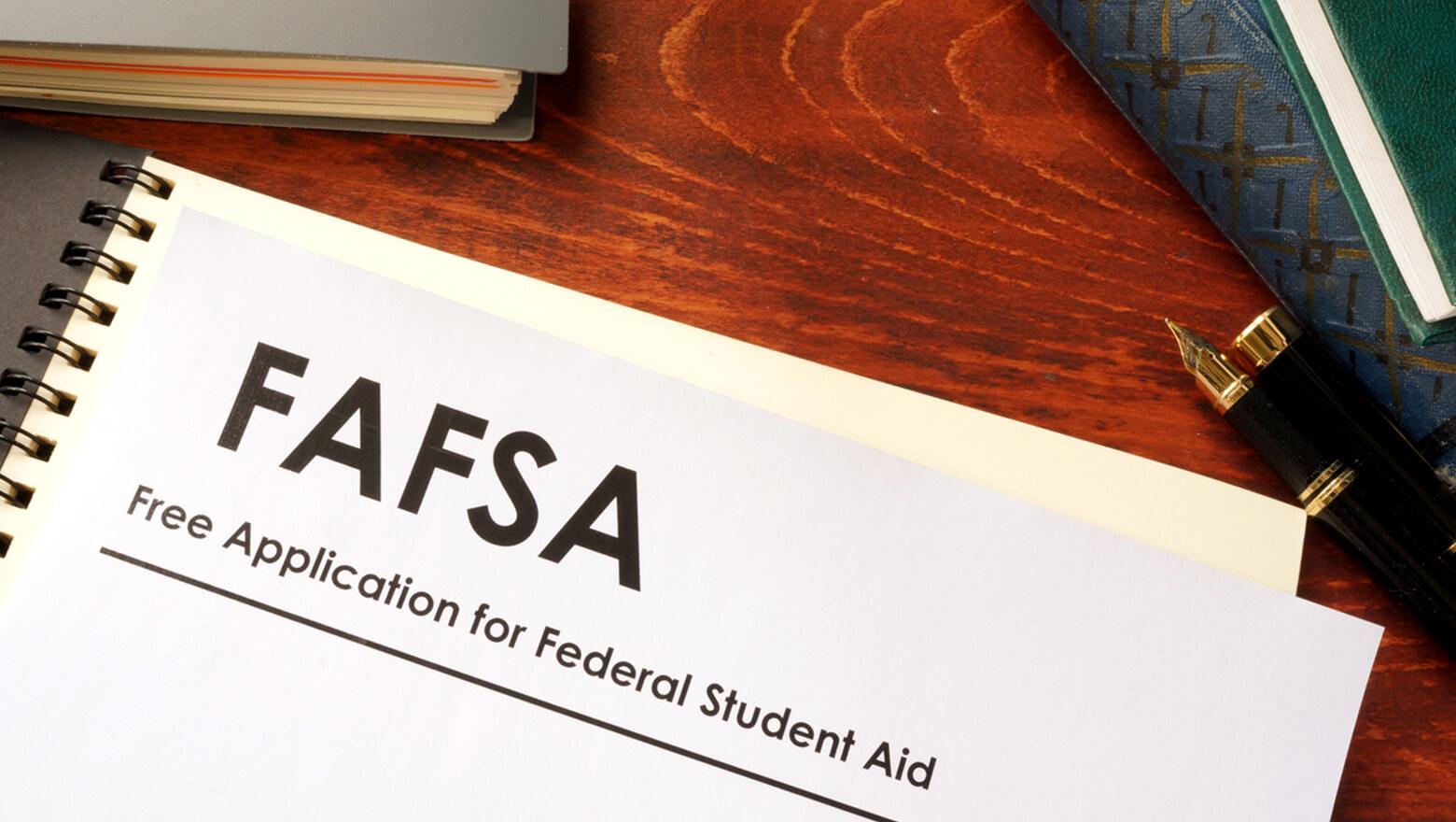 FAFSA form on desk