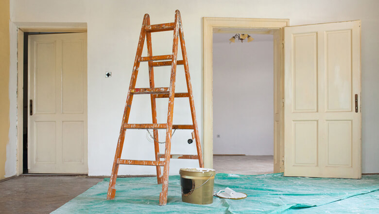 ladder and paint
