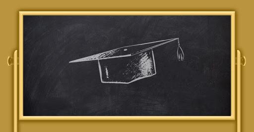 college planning chalkboard