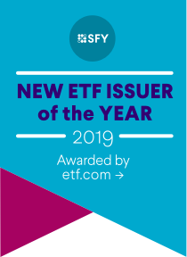 New ETF Issuer of the Year 2019. Awarded by etf.com