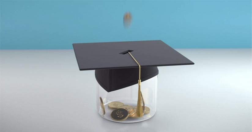 graduation cap with grad fund