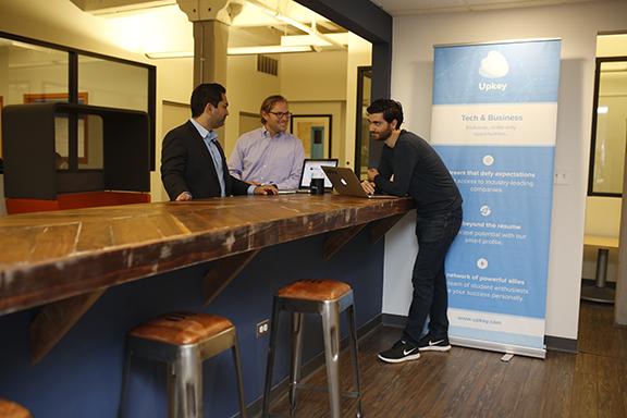 Amir, Mark and Upkey CTO Mo Bitar