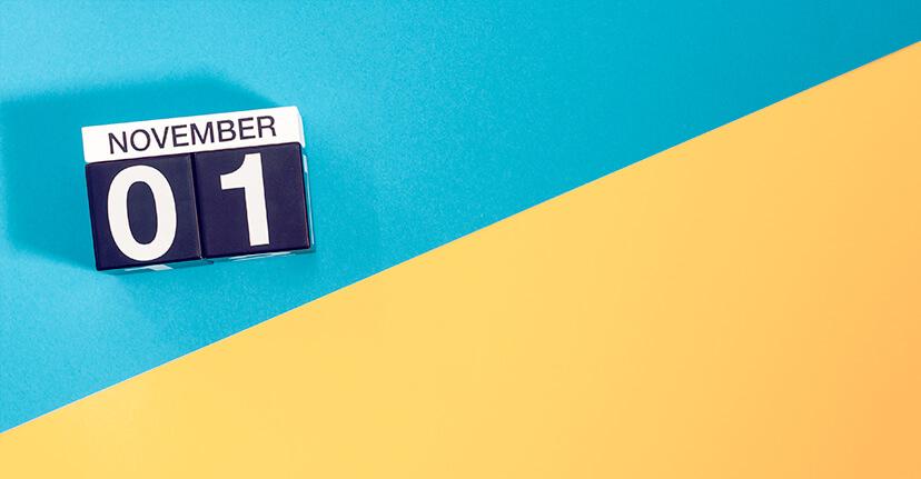 november calendar block