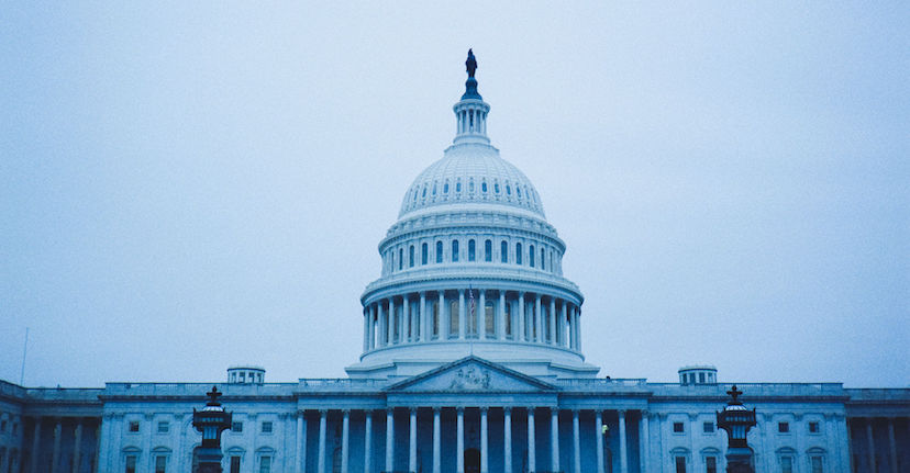 capitol building in blue