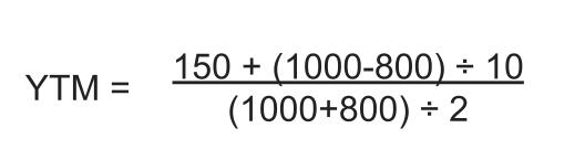 example of yield to maturity formula