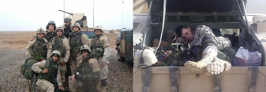 Michael serving in Iraq