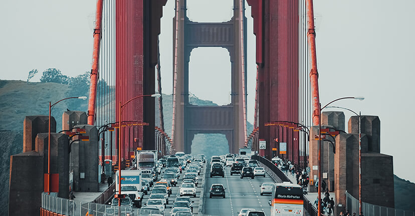 traffic on Golden Gate Bridge
