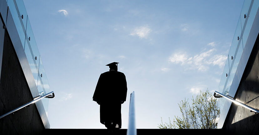 student on graduation