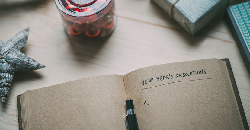 new years resolutions notebook