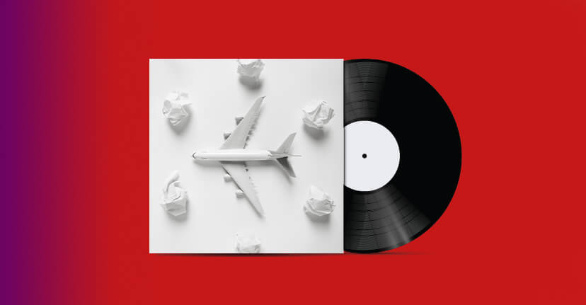 record and toy plane