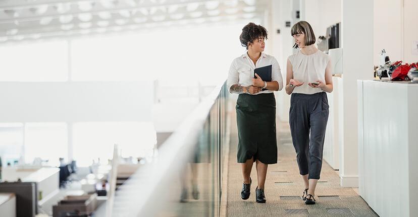 women coworkers in office